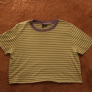 Striped Tee Crop Top
